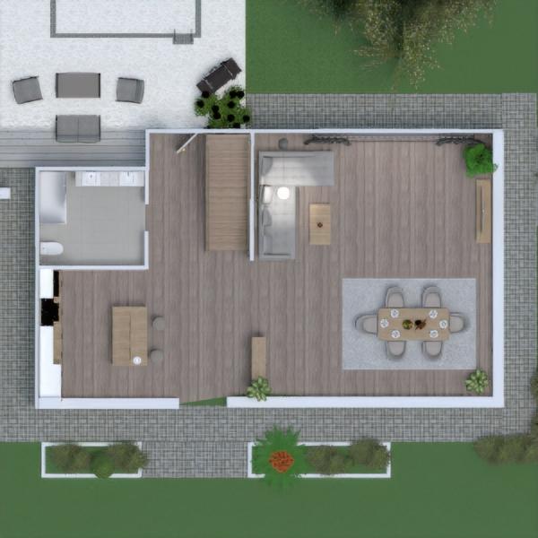 floorplans wohnung garage küche outdoor haushalt 3d