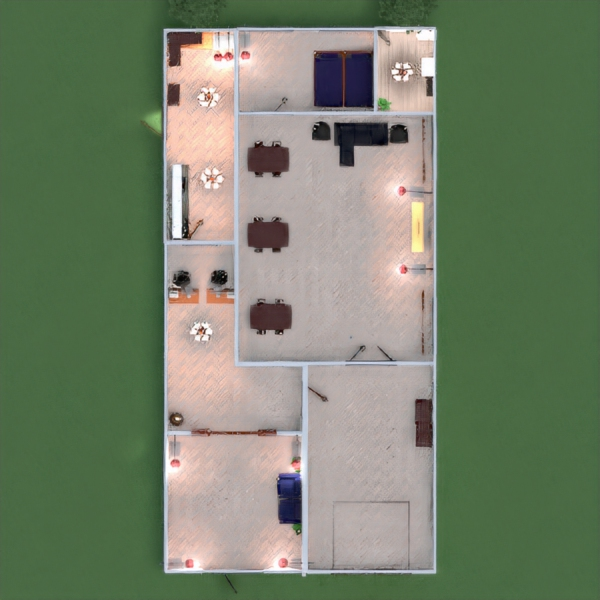 floorplans exterior despacho iluminación reforma paisaje 3d
