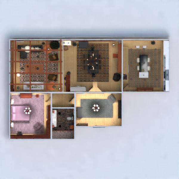 floorplans apartamento muebles decoración bricolaje cuarto de baño dormitorio salón cocina iluminación arquitectura descansillo 3d