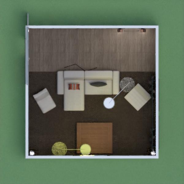 floorplans dom meble pokój dzienny oświetlenie krajobraz 3d