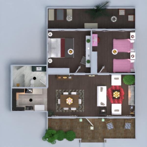 floorplans dom taras meble wystrój wnętrz łazienka sypialnia pokój dzienny kuchnia na zewnątrz pokój diecięcy oświetlenie krajobraz gospodarstwo domowe jadalnia architektura mieszkanie typu studio 3d