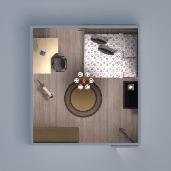 планировки дом мебель спальня 3d