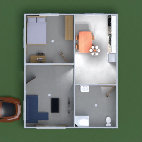 floorplans casa cuarto de baño dormitorio salón 3d