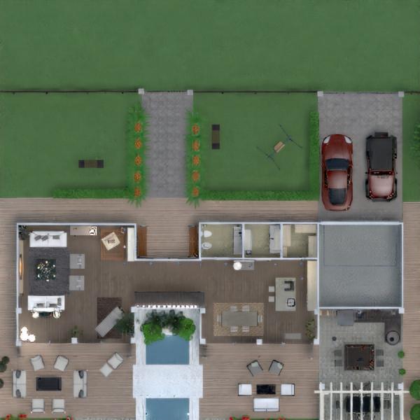 floorplans house terrace furniture decor bathroom bedroom kitchen 3d