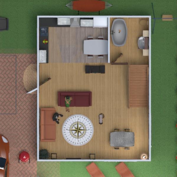 floorplans maison salle de bains garage cuisine salle à manger 3d