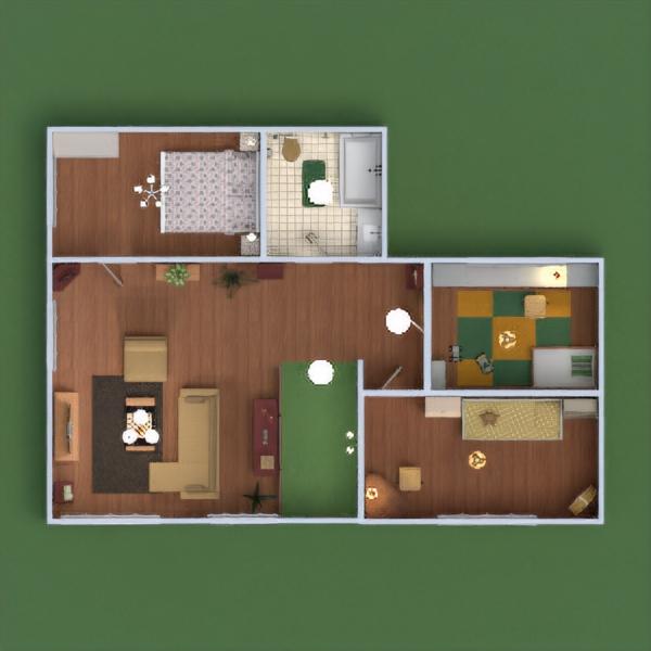 floorplans namas terasa baldai dekoras vonia miegamasis svetainė garažas virtuvė eksterjeras vaikų kambarys apšvietimas valgomasis sandėliukas prieškambaris 3d