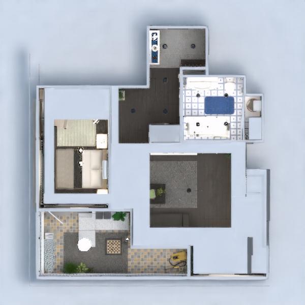 floorplans apartamento muebles decoración bricolaje cuarto de baño dormitorio salón cocina iluminación reforma hogar trastero estudio descansillo 3d