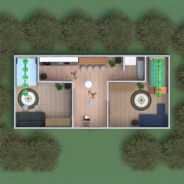 floorplans appartement cuisine chambre d'enfant 3d