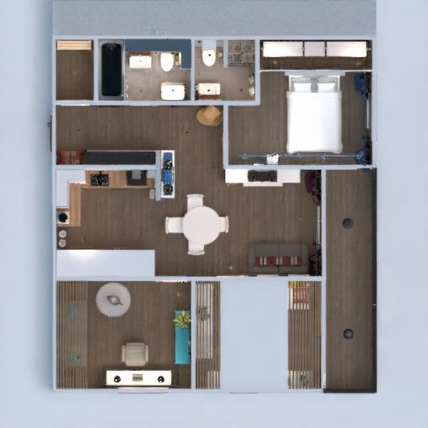 floorplans butas baldai dekoras vonia miegamasis svetainė virtuvė vaikų kambarys renovacija valgomasis studija prieškambaris 3d