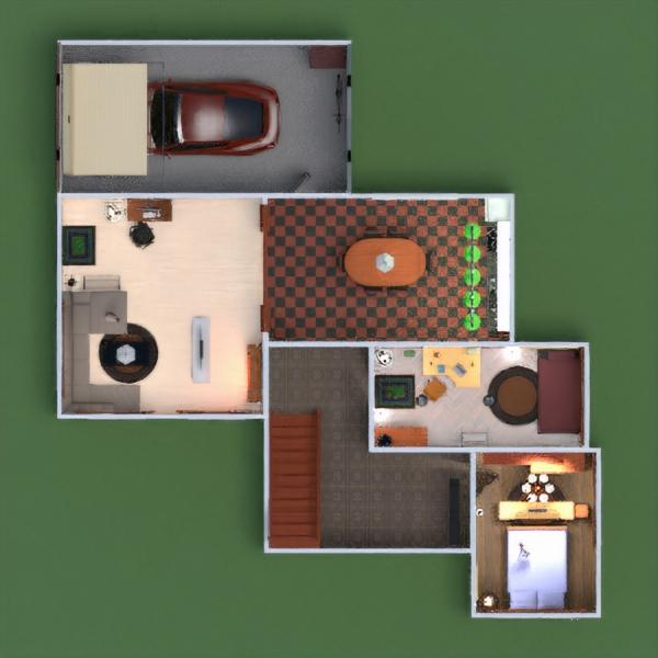 floorplans dormitorio salón garaje cocina habitación infantil 3d