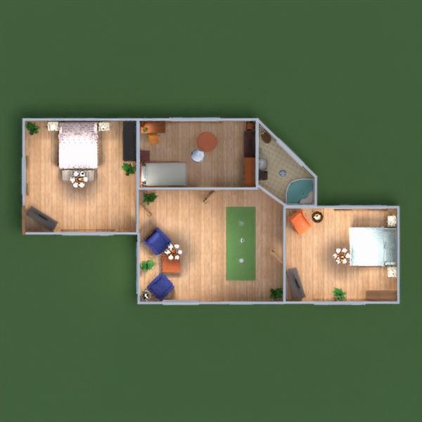 floorplans namas terasa vonia miegamasis svetainė garažas virtuvė eksterjeras kraštovaizdis 3d