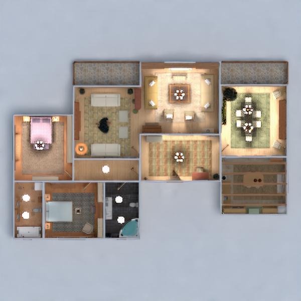 floorplans apartamento muebles decoración bricolaje cuarto de baño dormitorio salón cocina iluminación hogar comedor arquitectura descansillo 3d