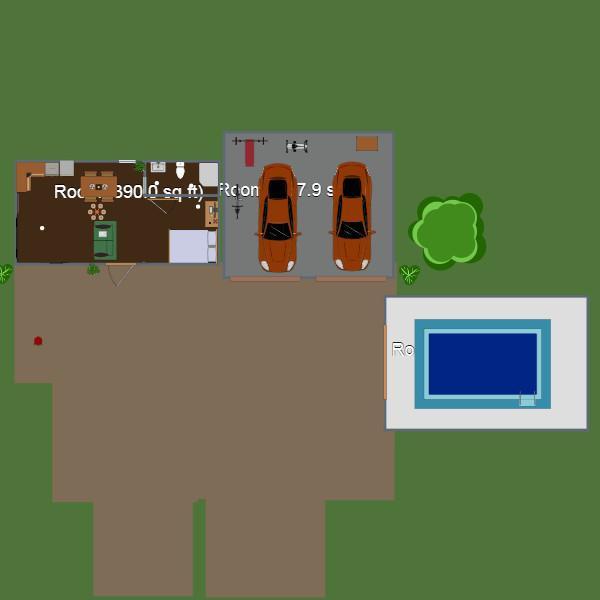 floorplans house garage landscape 3d
