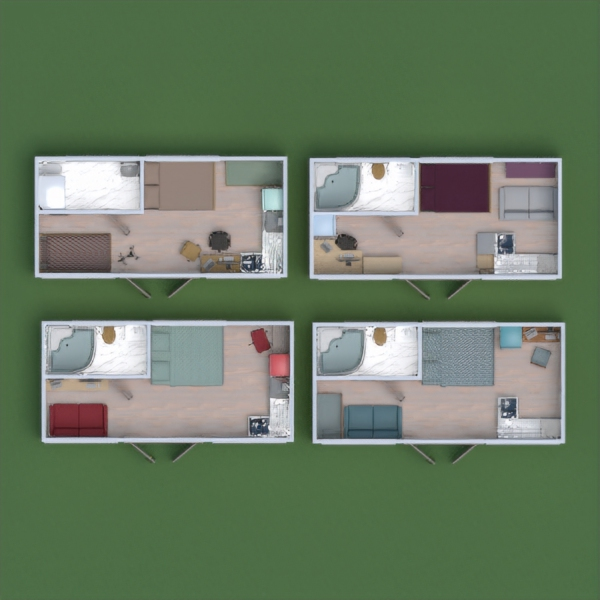 floorplans apartment house household studio 3d