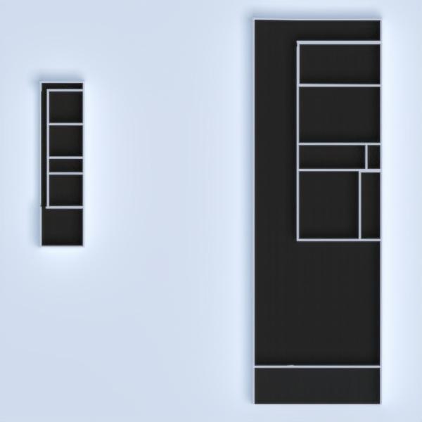 floorplans appartement terrasse salle de bains chambre à coucher salle à manger 3d