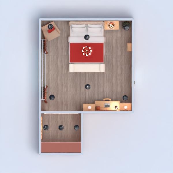 floorplans mobílias decoração dormitório 3d