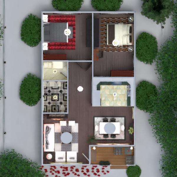 floorplans casa veranda arredamento decorazioni bagno camera da letto saggiorno cucina esterno illuminazione paesaggio famiglia sala pranzo architettura 3d