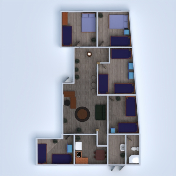 floorplans house office architecture 3d