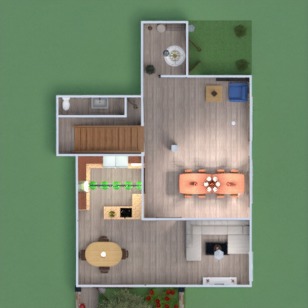 планировки спальня гостиная кухня детская столовая 3d