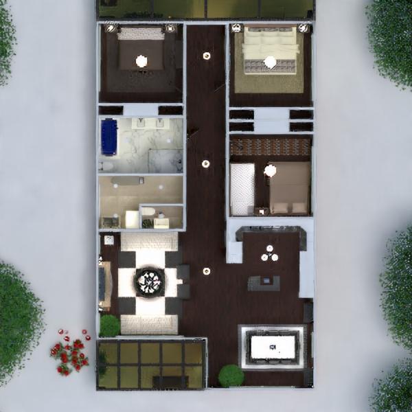 floorplans namas terasa baldai dekoras vonia miegamasis svetainė garažas virtuvė eksterjeras apšvietimas kraštovaizdis namų apyvoka valgomasis аrchitektūra 3d