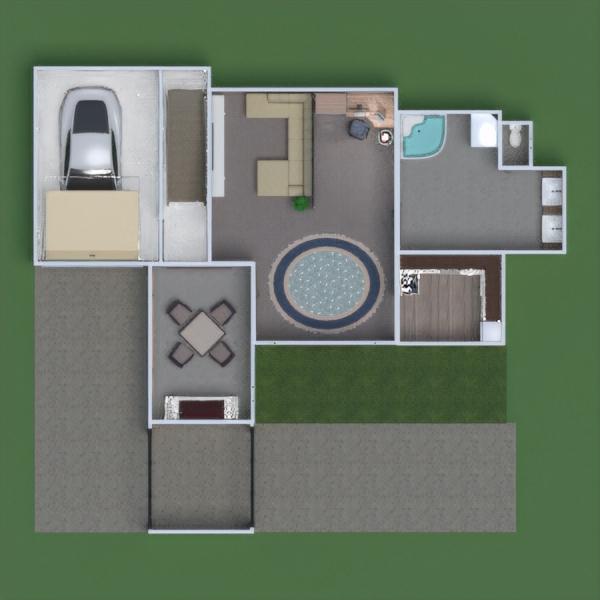floorplans cuarto de baño salón garaje despacho comedor 3d