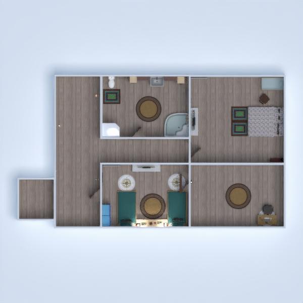 floorplans casa garagem utensílios domésticos 3d
