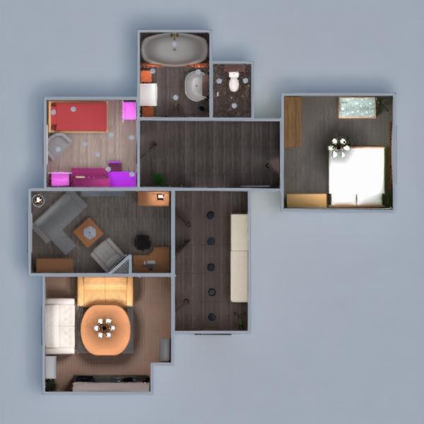 floorplans apartamento mobílias faça você mesmo casa de banho dormitório quarto cozinha quarto infantil utensílios domésticos despensa 3d