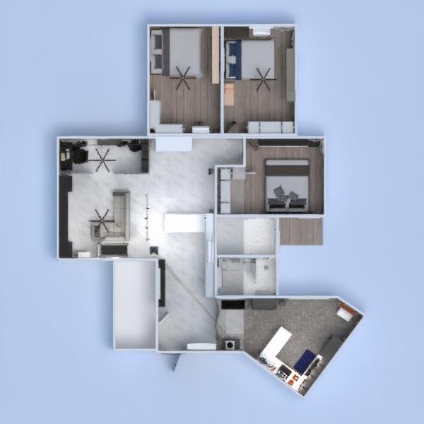 floorplans salón cocina reforma 3d