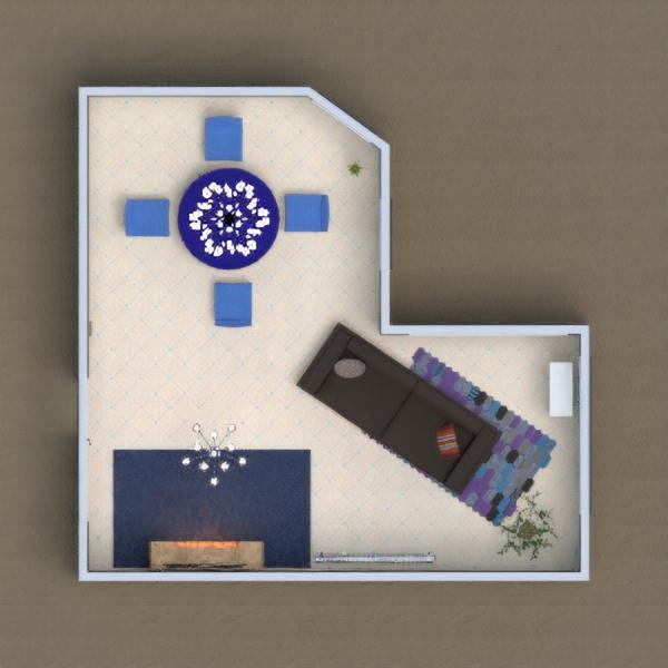 floorplans mobílias quarto sala de jantar 3d
