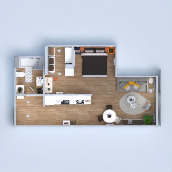 floorplans appartement meubles décoration diy salle de bains chambre à coucher salon cuisine 3d