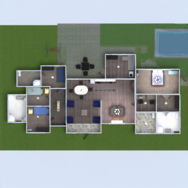 floorplans casa muebles decoración cuarto de baño dormitorio salón cocina exterior habitación infantil despacho iluminación reforma hogar comedor trastero descansillo 3d