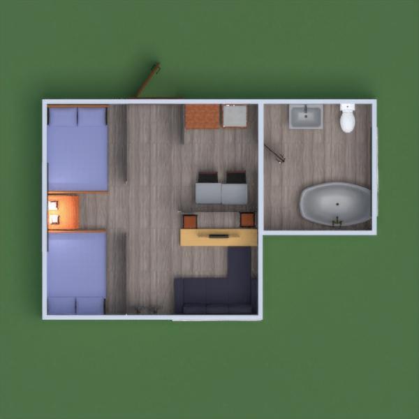 floorplans apartamento casa mobílias decoração utensílios domésticos 3d