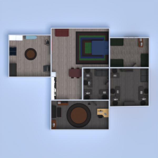 планировки квартира дом мебель спальня кухня офис столовая студия прихожая 3d