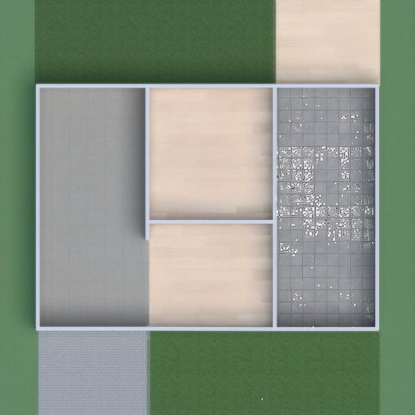 floorplans salle de bains chambre à coucher cuisine extérieur maison 3d