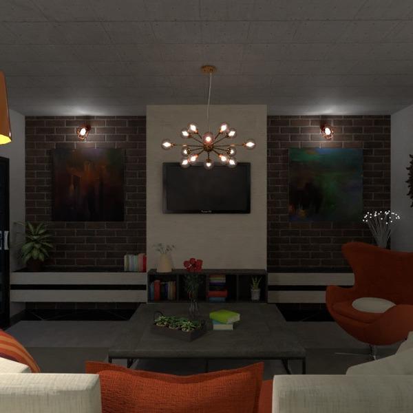 floorplans meble wystrój wnętrz pokój dzienny oświetlenie 3d