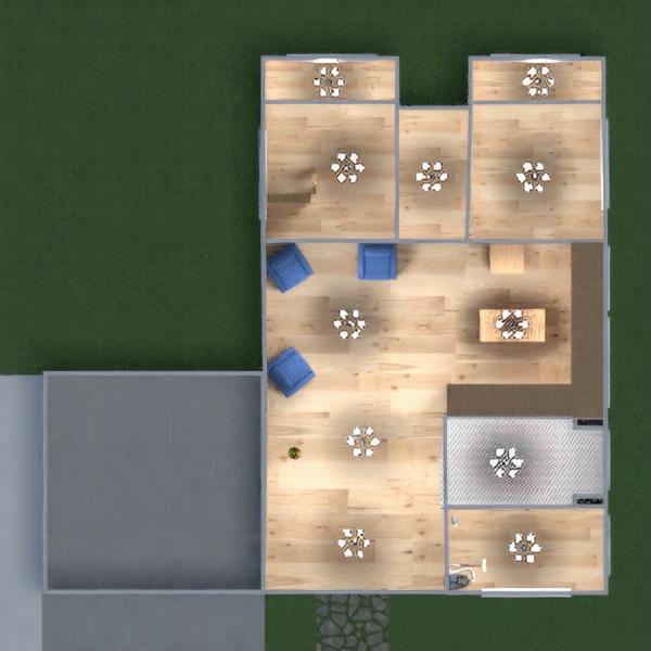 floorplans maison chambre à coucher salon cuisine extérieur 3d
