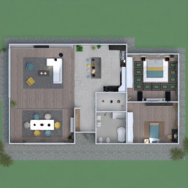 floorplans wohnung haus mobiliar dekor badezimmer 3d
