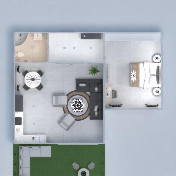 floorplans dom meble łazienka pokój dzienny oświetlenie 3d