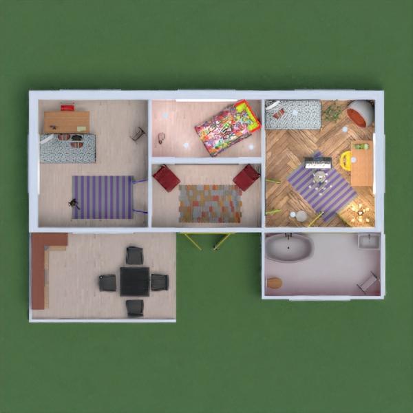 floorplans apartamento casa varanda inferior arquitetura estúdio 3d