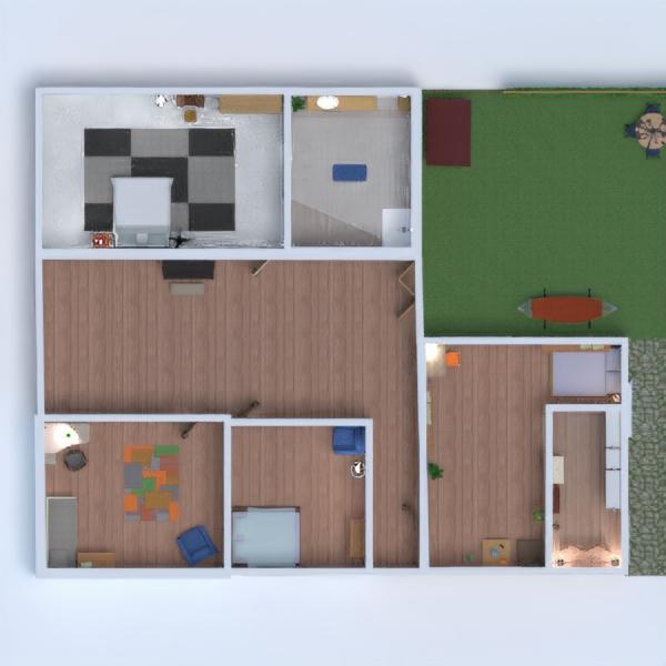floorplans casa utensílios domésticos arquitetura 3d