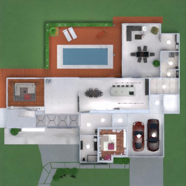 floorplans namas terasa dekoras pasidaryk pats miegamasis garažas virtuvė apšvietimas valgomasis аrchitektūra prieškambaris 3d