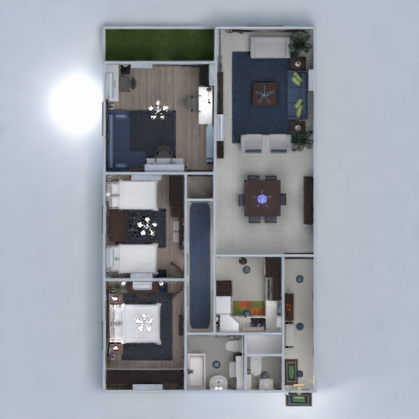 floorplans appartement salon 3d