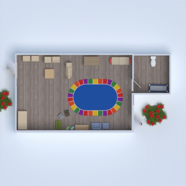 floorplans kids room 3d