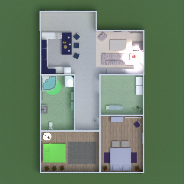 floorplans apartment house furniture bathroom bedroom living room kitchen kids room household dining room entryway 3d