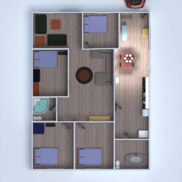 floorplans decoración habitación infantil paisaje 3d