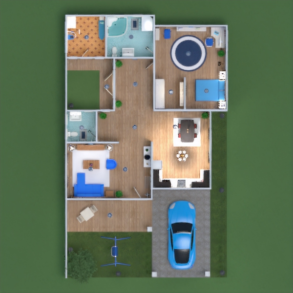 floorplans casa muebles cuarto de baño dormitorio salón cocina comedor 3d