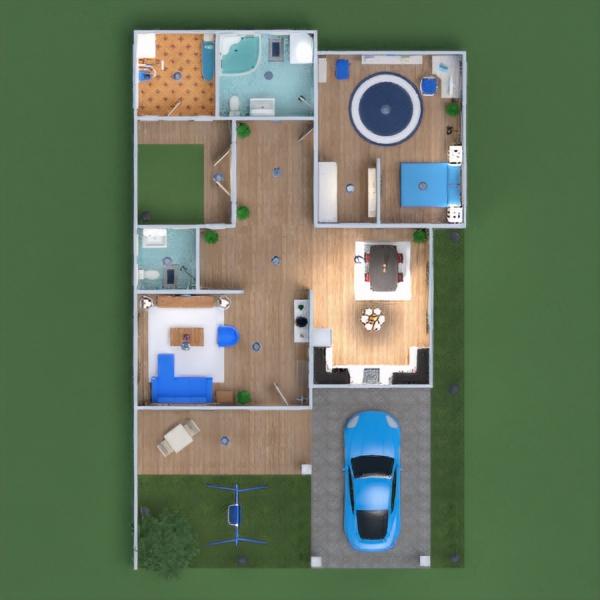 floorplans house furniture bathroom bedroom living room kitchen dining room 3d