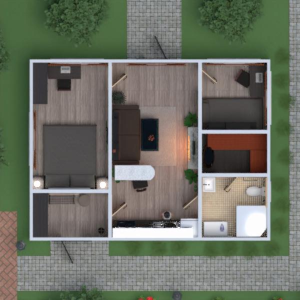 планировки дом ландшафтный дизайн 3d