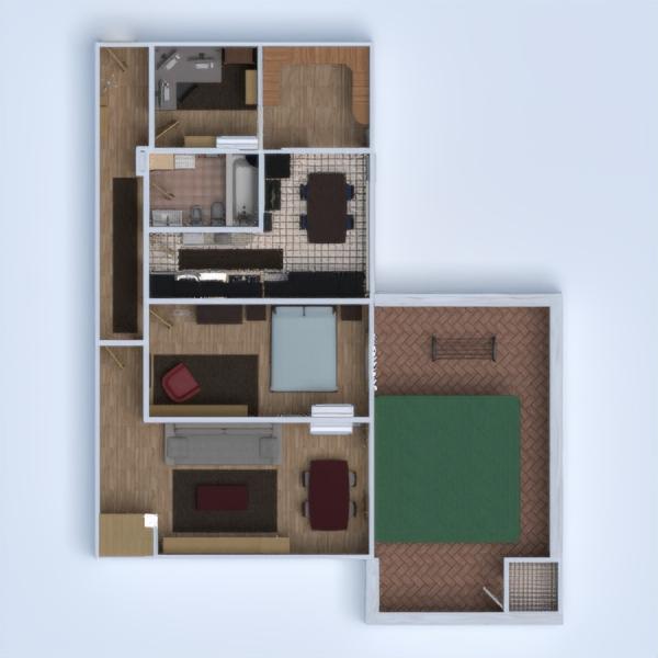 floorplans haus mobiliar dekor badezimmer schlafzimmer küche büro haushalt lagerraum, abstellraum 3d
