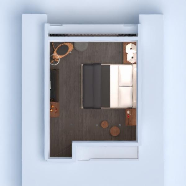 floorplans apartamento mobílias decoração dormitório 3d